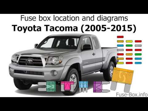 Fuse box location and diagrams: Toyota Tacoma (2005-2015) - YouTubeYouTube
