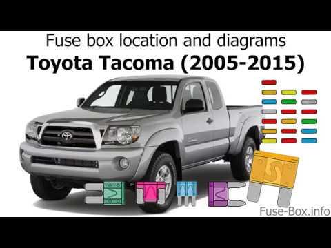 Fuse box location and diagrams Toyota Tacoma (2005-2015) - YouTube