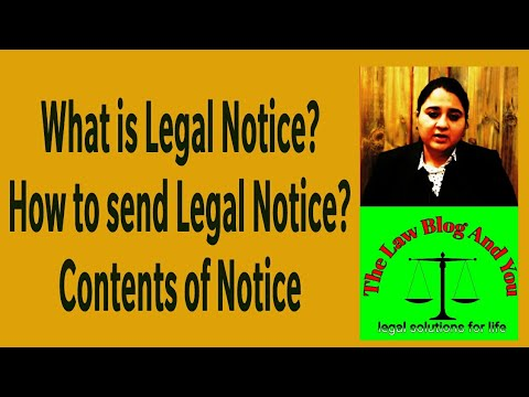 WHAT IS LEGAL NOTICE? LEGAL NOTICE FOR RECOVERY OF MONEY, CONSUMER LEGAL NOTICE