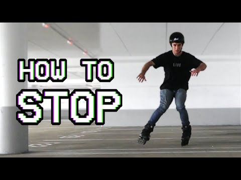 How To Stop On Rollerblades Without Brakes Beginners Inline Skating Tutorial Youtube