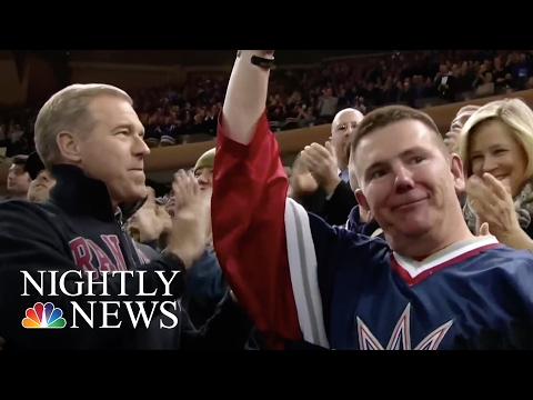 New York Rangers Fans Break Out In Applause For Veteran | NBC Nightly News