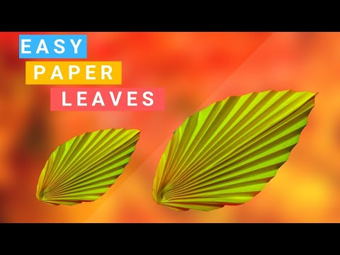 How to Make Paper Leaves Easy Simple Step By Step || DIY Origami Paper Craft Idea