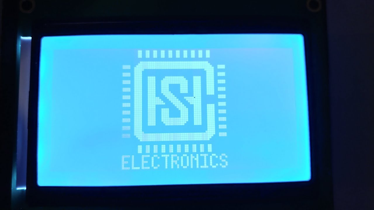 ST7920 Graphic LCD Demo with a PIC16F887