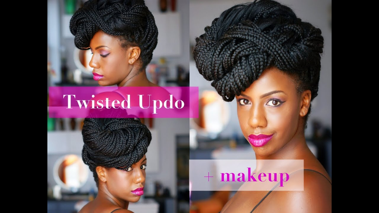 Twisted Updo For Havana Twists Marley Twists Senegalese Twists