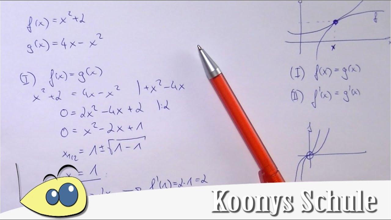 Berührproblem, Berührpunkt | erklärt und vorgerechnet | Analysis ...