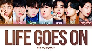 Download BTS Life Goes On Lyrics (방탄소년단 Life Goes On 가사) [Color Coded Lyrics/Han/Rom/Eng]