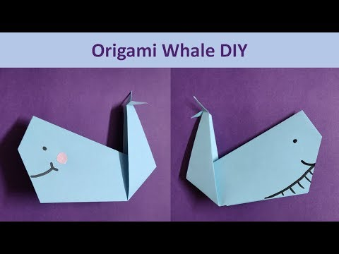 DIY : Easy Origami Tutorial | Paper Whale Step by Step | Paper folding #kidscraft #Origami
