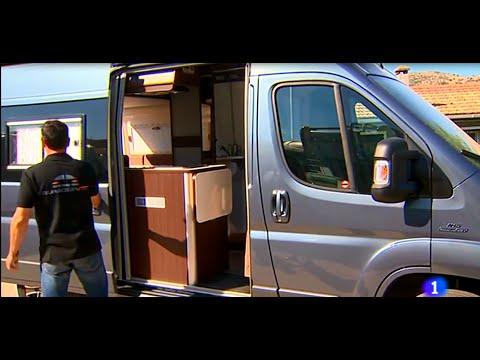 La 1 de televisión española fomentando el viaje en camper