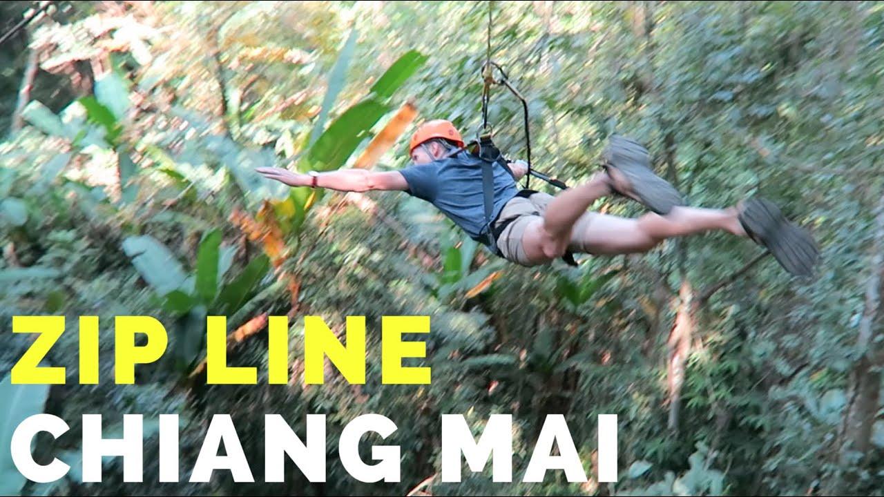 AMAZING Jungle Zip Line - Chiang Mai, Thailand 2016