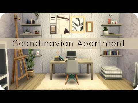Sims 4 Speed Build | Scandinavian Apartment Group Collab