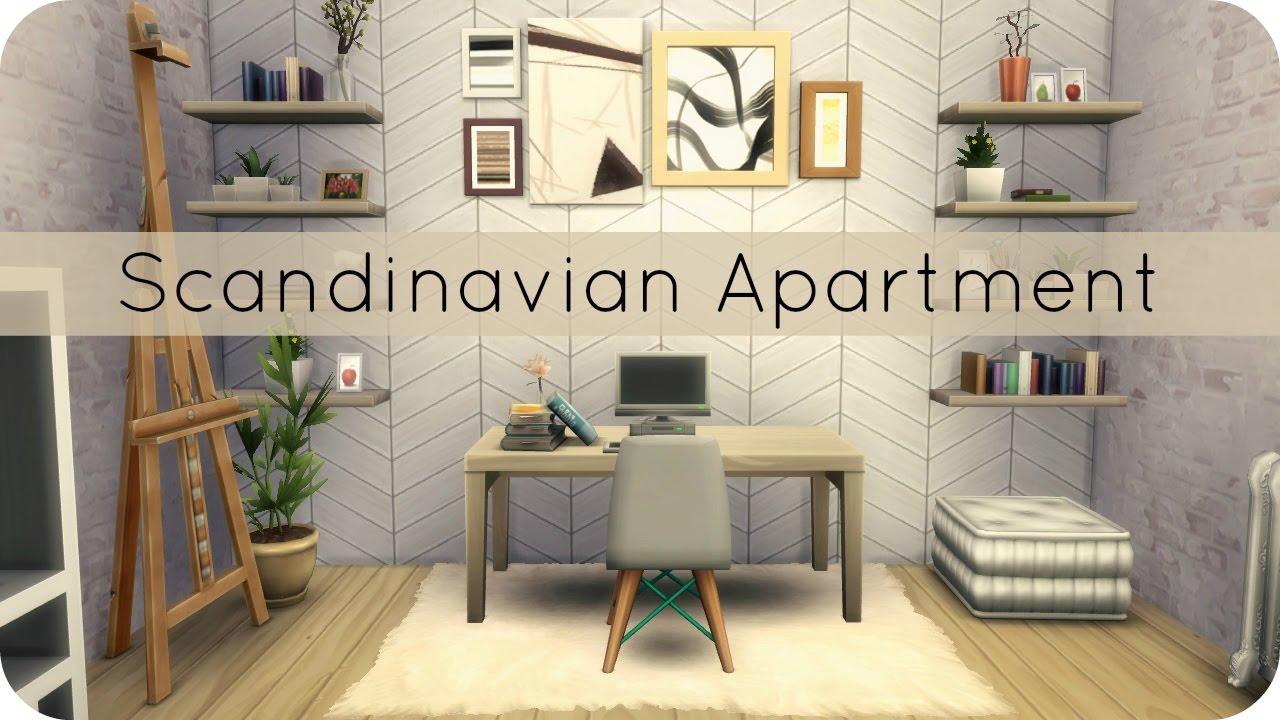 Sims 4 Speed Build | Scandinavian Apartment Group Collab