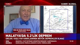 Prof. Dr. Övgün Ahmet Ercan'dan Malatya Depremine İlişkin Çok Önemli Açıklama