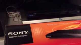 Sony DVD Player DVP-SR210P from Walmart. Review by Mr Tims. Compact and slim design. Space saver.