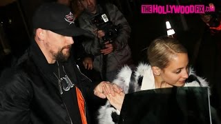 Joel Madden & Nicole Richie Attend A Private Party At The Nice Guy 1.23.16 - TheHollywoodFix.com