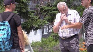 GRANDPA SMOKING BONG PRANK!