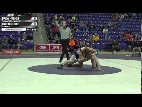 160 Finals: Drew Hughes (Region Wrestling Academy) Vs. Paden Moore (Flat Earth)