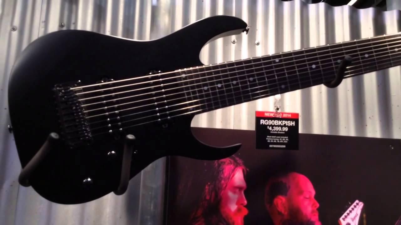 NAMM 2014 Ibanez RG9 and RG90BKPISH 9-String Guitars - YouTube
