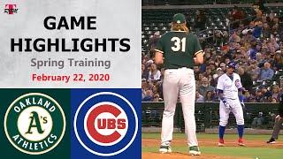 oakland-athletics-vs-chicago-cubs-highlights-february-22-2020-spring-training