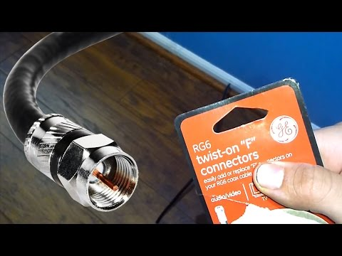 How to Install a Coax Cable F Connector with Common Tools