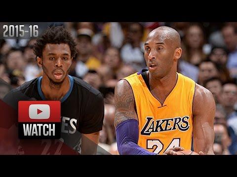 the best attitude c1f40 87124 Kobe Bryant vs Andrew Wiggins DUEL Highlights (2016.02.02) Lakers vs Wolves  - Teacher vs Student!