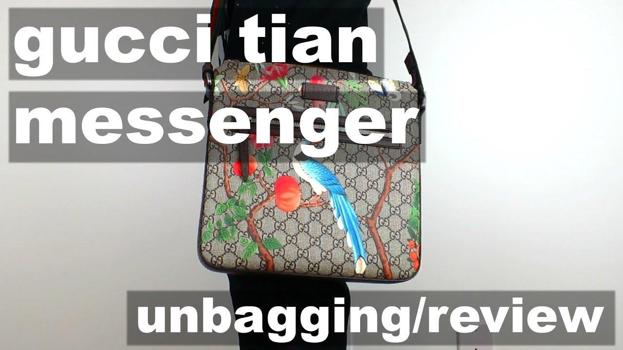 12fbeeabbacd Gucci Tian GG Supreme Messenger Bag - Unbagging/Review - YouTube