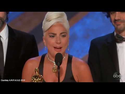 Lady Gaga Cries After Winning Oscar For Best Original Song Shallow In A Star Is Born Mp3