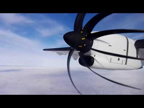 FULL FLIGHT AIR NEW ZEALAND ATR 72-600 Auckland to Napier