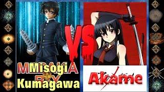 Misogi Kumagawa (Medaka Box) vs Akame (Akame ga Kill!) - Ultimate Mugen Fight 2016