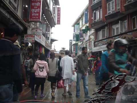 Busy road in Kathmandu town