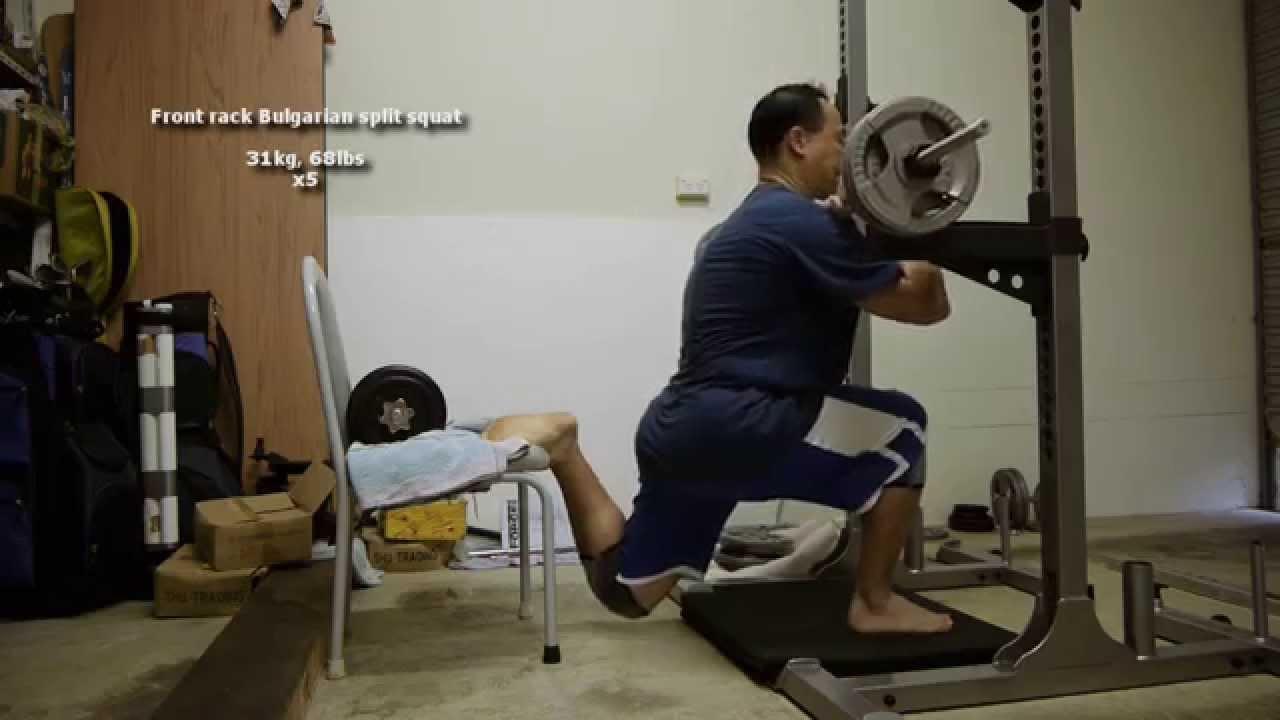 Dumbbell Bulgarian Split Squat Jump training - Squat ...