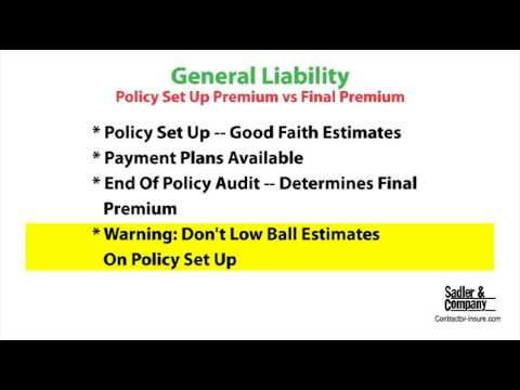 General Liability Insurance Coverage For Builders