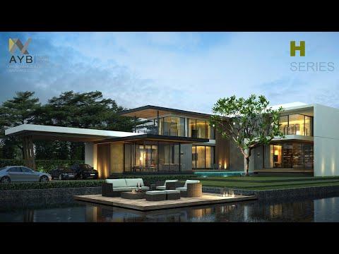 L106.แบบบ้านสวยสไตล์รีสอร์ท พร้อมสร้าง โดย AYB Resort House#รับสร้างบ้าน