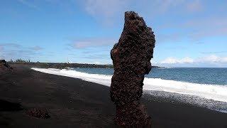 New Kapoho Black Sand Beach Puna Hawaii