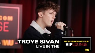 """Troye Sivan performs """"Youth"""" and """"Happy Little Pil"""" inside the WesternUnion.com VIP Lounge"""
