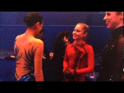 ハニカミ!!リプニツカヤ リプニツカヤは真央ちゃんが大好き声を掛けられはにかみながら笑顔で