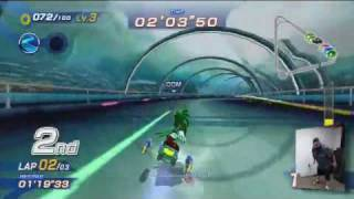 Sonic Free Riders - Gameplay 1# Dolphin Resort (Xbox 360/Kinect)