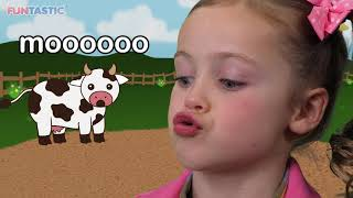 Moo Cow | Learn Animal Sounds! thumbnail