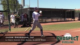 Jacob Grossman - Updated Hitting & Fielding Clips - Class of 2020