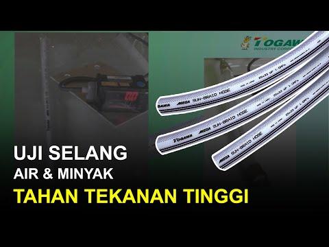 Uji Selang Air/Minyak High Pressure & Fleksibel Togawa Mega Sun Braid (Tahan Tekanan Tinggi)