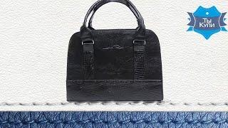 Видеообзор женской черной каркасной сумки Камелия