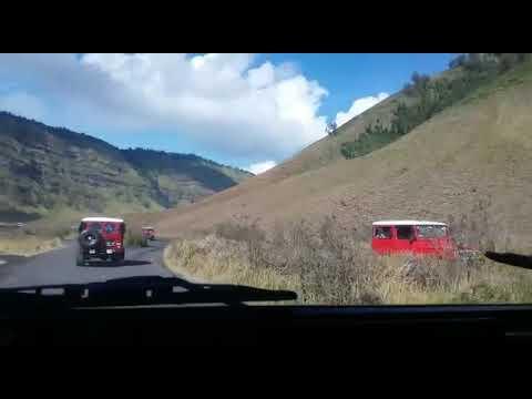 #bromo #mountain #travelling          Drive To Arround Bromo Mountain With Savana Grass And Sand Sea