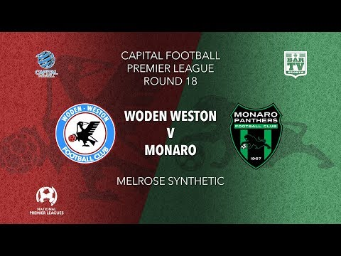 2019 NPL Capital u20s & 1st Grade Round 18 - Woden Weston FC v Monaro Panthers FC