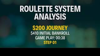 STRATEGY APPLICATION - REAL MONEY - $200 Journey - Part 1