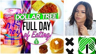 DOLLAR TREE: WHAT I EAT IN A DAY 2017! FULL DAY OF EATING DOLLAR STORE FOOD | REVIEWS + RECIPES
