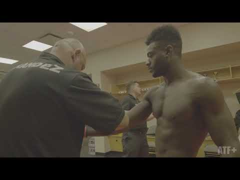 Referee Kevin MacDonald goes over the rules with Aljamain Sterling - ATF+