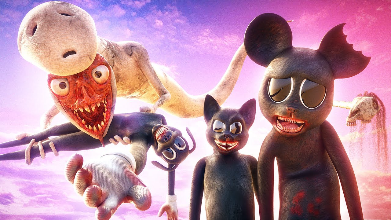 All Creature Fights by Horror Skunx! (Cartoon Cat, Cartoon Mouse, Bridge Worm & Long Horse)