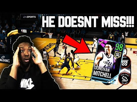 98 OVR EASTER MASTER DONOVAN MITCHELL GAMEPLAY!!!  NBA LIVE MOBILE 18