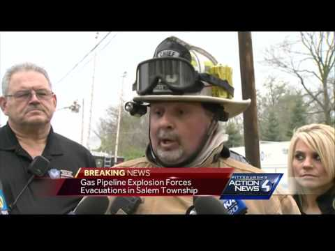 Flames shoot into sky after natural gas explosion in Salem Township