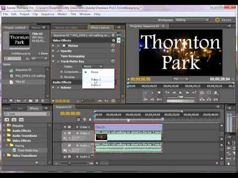how to use track matte in premiere pro image behind