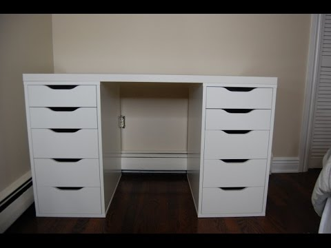 Luxurious White Makeup Vanity With Drawers Youtube